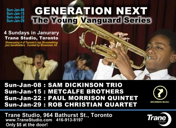 Featuring some of the hottest up and coming 20-something bandleaders in